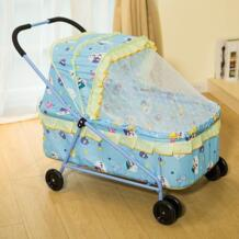 Детские люльки колыбели кроватки с колесами новорожденных ручной толчок складной портативный Новорожденный ребенок сетчатый Навес набор Мобильная кровать детская кроватка 0 ~ 12 No name 32826401972