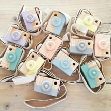 Милые деревянная камера для маленьких детей висит Камера Опора украшения Развивающие игрушки для детей на день рождения рождественские подарки No name 32850484257