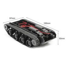 Робот Танк шасси ручной работы DIY Kit Light амортизированное 130 двигателей баланс демпфирования Танк робот шасси для Arduino СКМ Wenhsin 32906074521