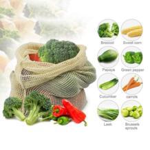 Многоразовые продукты фрукты овощи сумки хлопок сетки хранения мешки для картофель, лук рынок мешок хозяйственная сумка домашний кухонный Органайзер CAZZO 32950421765