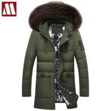 2017 зимние Брендовые мужские пуховики с меховым капюшоном, большие размеры XXXL, зимние куртки высокого качества, модные мужские пальто, лидер продаж No name 32711271225