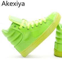 Akexiya Новое поступление 2017 года освещенные Карамельный цвет высокие Обувь Для мужчин унисекс модная обувь без каблука обувь на платформе обувь для него и для нее xwb001 No name 32634497071