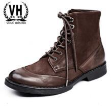 Мужские кожаные ботинки Высокая мужская обувь Martin Повседневная Мужская Новая мужская зимняя обувь ручной работы модные удобные ботинки No name 32831350411