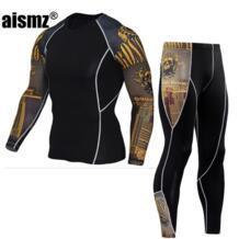 для мужчин's термальность нижнее бельё для девочек мужской одежды наборы ухода за кожей осень зима Теплая одежда езда костюм быстросохнущие термо AISMZ 32851748429