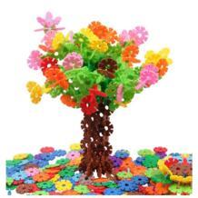 300-1200 шт большие размеры детские игрушки для малышей многоцветные строительные блоки Снежинка креативное образовательное строительство пластмассовые игрушки crazy spin 32857462248