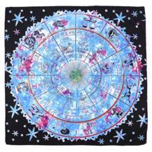 Карты Таро скатерть гадание для классического Витт Цветок Тень Таро реквизит для предсказаний астрологический скатерти 100 см X 100 см BLINKMOTH 32828151006