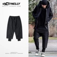 Европа и США Street в стиле хип-хоп ветер два Штаны брюки черный двойной эластичной Штаны звезда с пунктом No name 32815609091