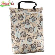 детские сумки для мамы мокрый мешок большая корзина для белья Resuable путешествия детские сумки легко носить с собой пеленки вставки Плавание сумка для мамы OHBABYKA 32724123373