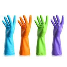 Латекса для мытья посуды чистящие длинные перчатки хозяйственные дома Кухня перчатки No name 32865590392