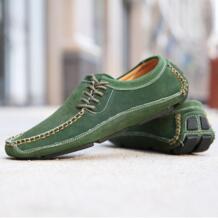 Hotahoy Для мужчин для отдыха плюшевые кожаные дышащая обувь мода Парусная тонкие туфли вручную No name 32770981450
