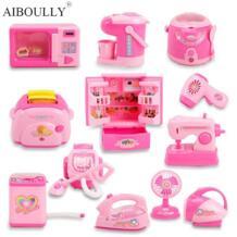 Мини-кухонные игрушки, светящиеся и звуковые пластиковые симуляторы, бытовая техника для детей, Детский игровой домик, игрушка для маленьких девочек, игрушки для ролевых игр HAPPY MONKEY 32791077278