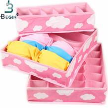 Розовый различные сетки шаблон Мода Удобный складной ящик для хранения сумка бюстгальтер нижнее бельё девочек галстук Beily 32629463729