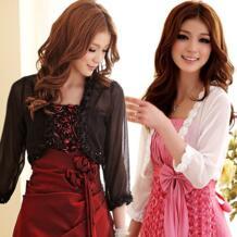 F ~ 3XL новые женские сексуальные стильные Большие размеры Обрезанные розовые прозрачные шифоновые Болеро короткие маленькие кардиганы куртки Вечерние пальто jk2.yy 32624241587