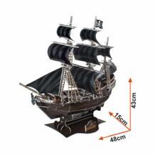 Бесплатная доставка 3D деревянная головоломка DIY модель детские игрушки, негабаритный пиратский корабль головоломка 3d модель здания Jimusuhutu/吉木舒胡图 32658036426