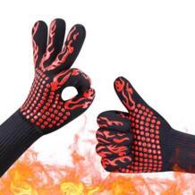 1 пара барбекю гриль Пособия по кулинарии перчатки Extreme термостойкие духовка перчатки E2S No name 32898812164