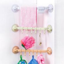 двойной всасывания полотенца полка Кухня Sucker органайзер для мелочей творческий дом ванная комната крючок для хранения цвет случайный BalleenShiny 32849076090