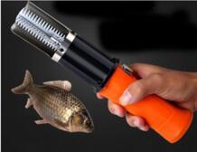 Электрический рыбы масштабирования Рыбалка Скалеры очистить рыбу Remover Очиститель накипи Водонепроницаемый скребок для чистки рыбы 1 шт. No name 32841461023
