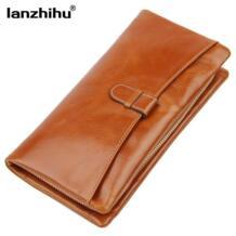 Новое поступление, высококачественный кожаный кошелек для женщин, на молнии, длинный клатч, бумажники, женский кошелек, держатель для карт, кошелек с карманом для телефона lanzhihu 32392263394