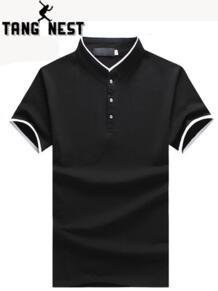 2019 горячая Распродажа бизнес-Поло рубашка плюс 5 цветов тонкий короткий рукав поло хорошее качество поло рубашка мужская Размер 5XL MTP465 TANGNEST 32812116499