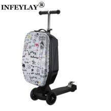 21 дюймов студентов скутер чемодан Мальчик Прохладный Дело Тележки 3D экструзии Высокое качество PC отделимые багаж детский интернат окно No name 32828988437