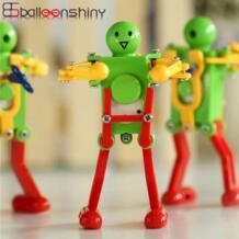 1 шт. детские танцевальные робот заводные игрушки Детские милые забавные креативные механические пластиковые заводные танцовщицы детские игрушки BalleenShiny 32848972642