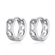 новая распродажа серебряный цвет привлекательные полые Великолепные женские серьги-кольца pendientes brincos QCOOLJLY 32233939384
