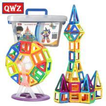 QWZ 72 шт. Мини Магнитный конструктор строительные игрушки набор Ранние развивающие игрушки для детей 3D Магнитные строительные блоки детский подарок No name 32847684005