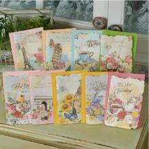 Классический Европейский стиль винтаж поздравительные открытки W конверты, Ретро ручной работы, открытки на день рождения No name 32338239386