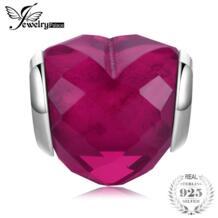 стерлингового серебра 925 глубокий сердце любовь Бусины Талисманы Fit Браслеты JewelryPalace 32860278516
