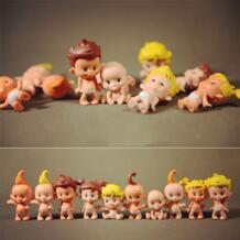 Мини милые/милые украшения для дома поделка из пластмассы кукла для малышей 3 шт./партия 21401 AIBOULLY 32322850167