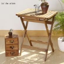 Натуральная деревянная отделка новый классический складной маленький квадратный планка деревянный журнальный столик No name 32650363906