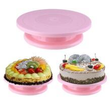 DIY выпечка, противоскользящий инструмент для круглая подставка для торта украшения торта Пластик тарелка для торта проигрыватель Вращающийся поворотный стол для приготовления пищи VKTECH 32907276585