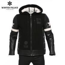 Зимняя трендовая шуба для мальчиков, Мужская модная новая куртка-пуховик в молодежном стиле, Мужская Высококачественная Мужская одежда, пальто из овчины, суперзвезда WINTER PALACE 32884593851