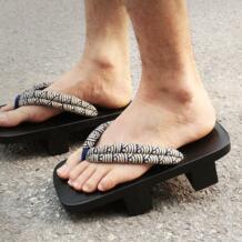 Летние босоножки; японские деревянные тапочки Geta; мужские сандалии на плоской подошве для косплея; Вьетнамки для косплея; размеры 45-50 No name 32791030904
