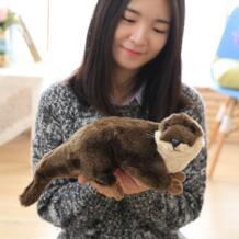 40 см Моделирование выдры плюшевые игрушки красивые украшения дома детская Рождественские подарки No name 32947979446