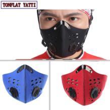 Анти-пыли велосипед активированный уголь маска ветрозащитный водонепроницаемый и dustproofhalf маска фильтр велосипед Велосипеды мотоциклетные маска No name 32779895209