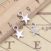 30 шт. шармы звезда 11x8 мм тибетские посеребренные Подвески антикварные ювелирные изделия Изготовление DIY ручной работы si xiang 1956597079