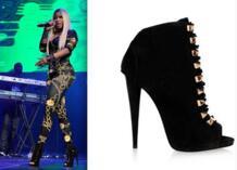 Замша кожа высокая пятки женщина до щиколотки сапоги пип ноги палец на ноге оболочки лак вверх шипы пятки гладиатор женщина платье сапоги-in Полусапожки from Обувь on Aliexpress.com | Alibaba Group rousmery 32420086642