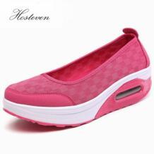 /сезон лето-весна, женские повседневные кроссовки, обувь на плоской подошве, Chaussure, обувь на платформе, дышащая сетчатая обувь на платформе Hosteven 32799201650