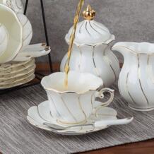 Краткое английский послеобеденный чайный набор, Континентальный чашки кофе и набор керамических кофейные сервизы No name 32810920426