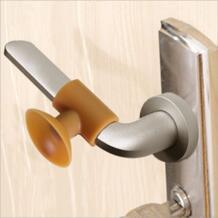Дверная ручка стена звука ночлега ручка двери шкафа замок глушитель силиконовый предотвращения столкновений 4x3,5x1,8 см No name 32844113815