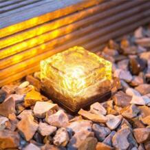 IP68 Водонепроницаемый солнечные светодиодный свет рок куб кирпич Дизайн Декоративные светильники для сада газон балкон белый/теплый белый/ синий No name 32836288357