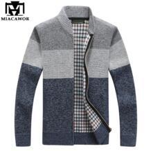 Новый демисезонный для мужчин кардиган повседневное мужские свитера трикотаж бейсбол воротник свитер куртка пальто Y082 MIACAWOR 32909640774