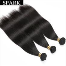 Бразильский прямые волосы пучки 1B натуральный Цвет 1/3/4 шт 100% человеческих волос Weave пучки 8-26 inch не Волосы remy расширения Spark 32846731971