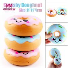 1 шт. моделирование пончики мягкое медленно нарастающее при сжатии игрушки ремни мультфильм улыбка лицо случайный сжимающиеся болотного цвета подарок/PY MUQGEW 32910755281