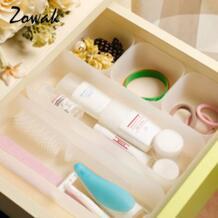 1 шт. разделитель лотки для организаторов дома раздельного хранения Кухня ванна шкаф настольная коробка холодильник лоток для столовых приборов, косметика, макияж Zowak 32555052356