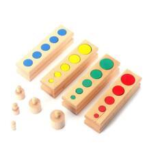 Модернизированный материалы montessori красочные цилиндрическая муфта дошкольного Интеллектуальное развитие детей обучающие игрушки для детей, подарок Dental house/牙屋 32808608996
