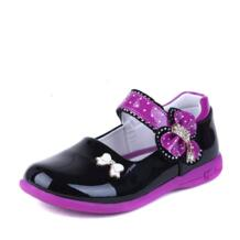 Обувь для девочек Обувь кожаная для девочек для детей принцессы Обувь детские туфли из лакированной кожи для вечеринки с бантом студентов тонкие туфли Smart Poro 32807763776