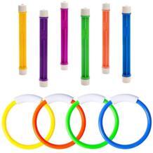 Подводные игрушки подводная Тонущая игрушка для плавательного бассейна кольца для дайвинга палки для ныряния торпеды водная трава погружение обучение подарок для детей No name 32999976032