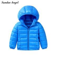зимняя куртка для девочек парка для мальчиков с капюшоном 90% белый утиный пух куртка для девочек верхняя одежда парки Детские пальто От 3 до 9 лет Sundae Angel 32866710096